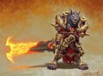Worgen warrior by VanHarmontt