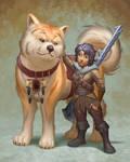 Halfling And Dog