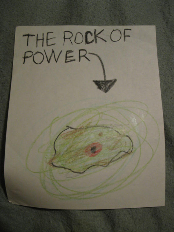old art - the rock of power by Rennon-the-Shaved