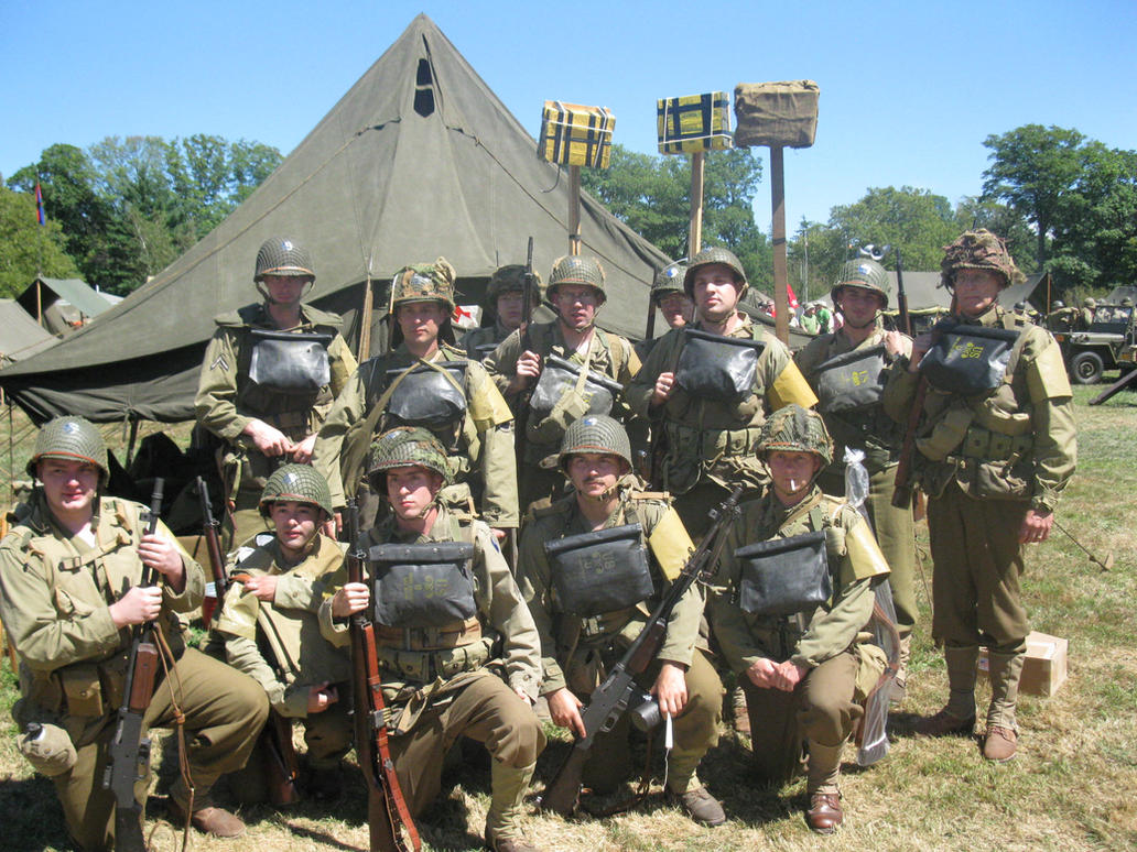 D-Day re-enactors by Rennon-the-Shaved