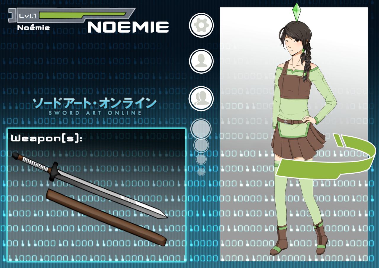 Sword Art Online Noemie Renier By Giofd On Deviantart