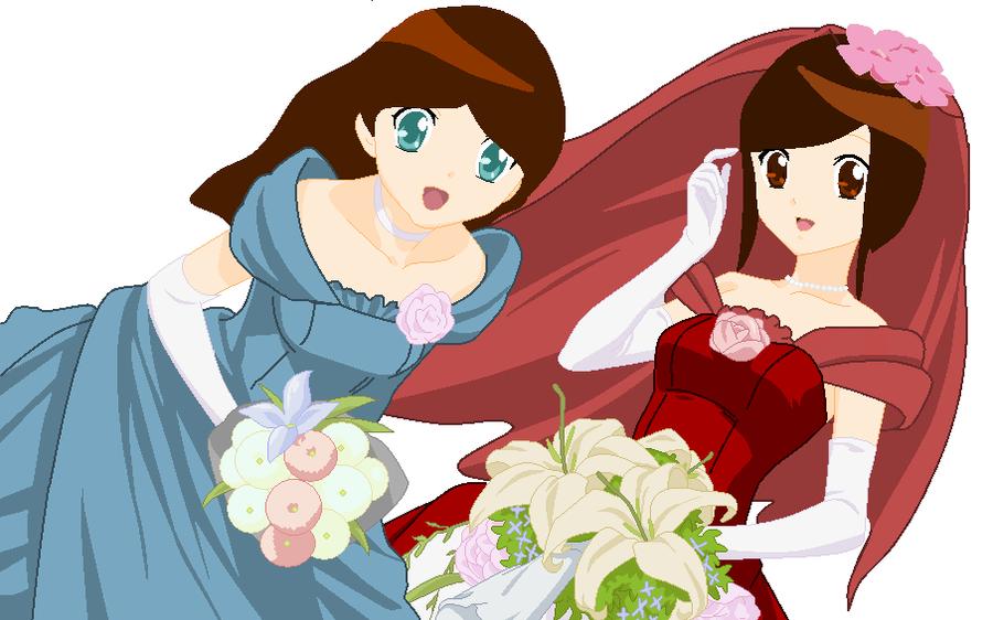 My Wedding and my bridemaid XD by Englandfan563