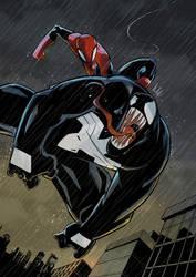 Spiderman vs Venom by ESDRASC