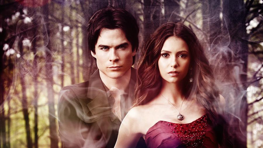 Damon and Elena by Dav...