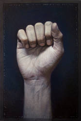 self portrait: right hand by 413