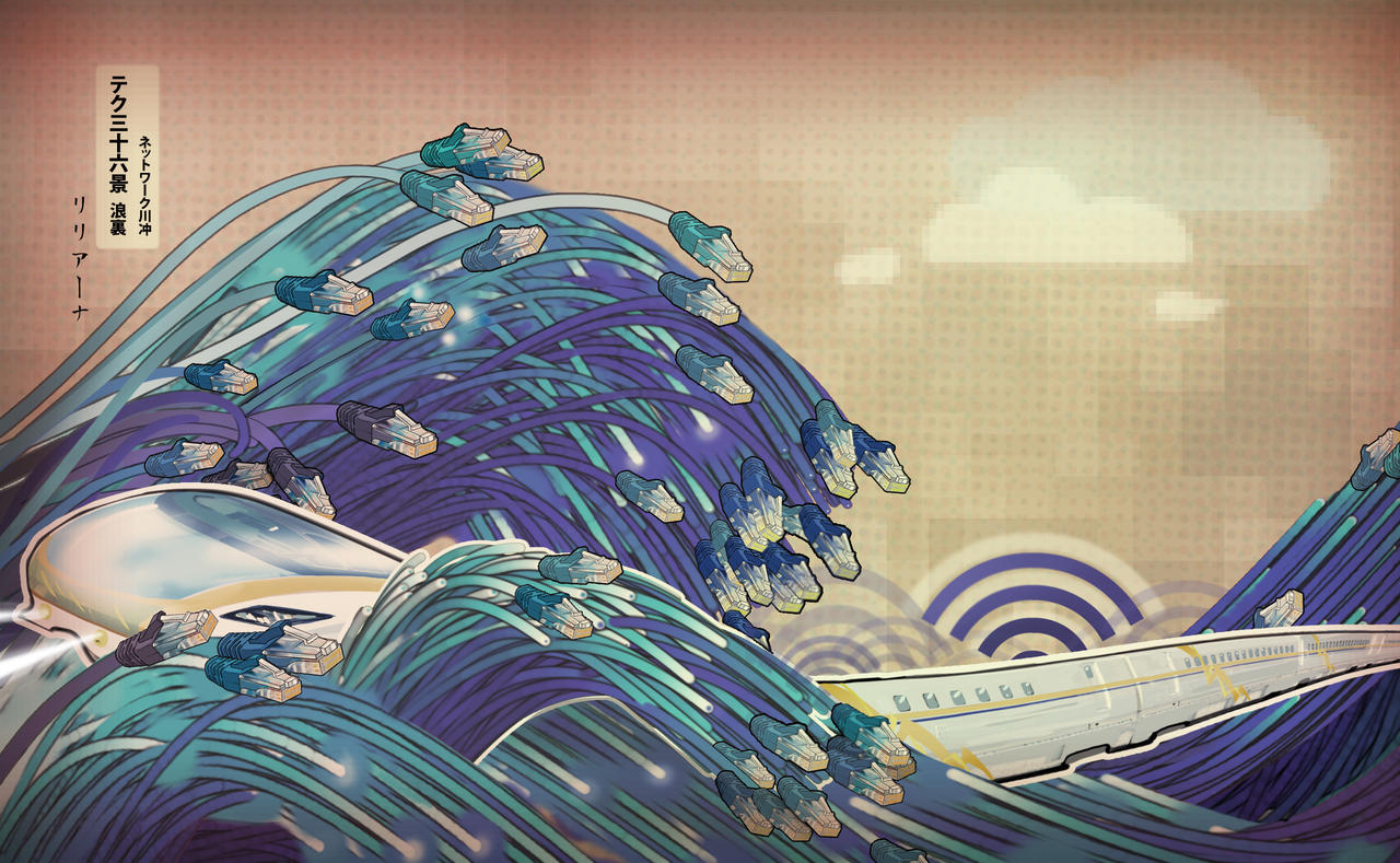 Surf the Great Wave by Liliana-Claire