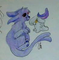 Litwick and Espeon - Pokemon by LetterU