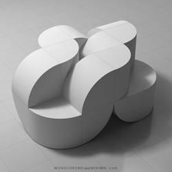 Sculpture Curved Cubes 02