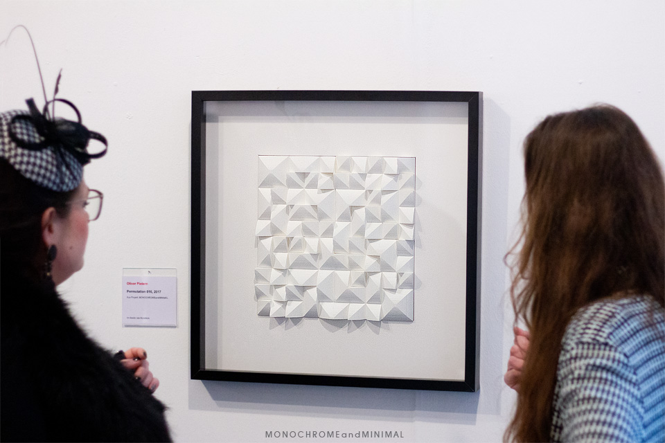 Permutation016 at exhibition OB-ART-2019 by monochromeandminimal