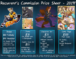 Commission Sheet 2019 by TheRecurrent