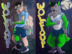 [c] Wolfoup Lenticular Shift Badge by RecurrentArt