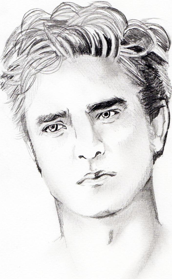 Sketch Of Edward Cullen By Strawberrycake01 On Deviantart