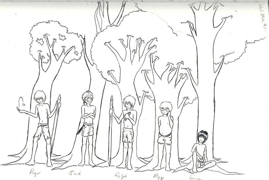 lord of the flies characters by createinspiration-d4ikdmc jpgLord Of The Flies Jack Drawing