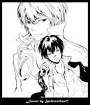 Line art Hibari KHR 260