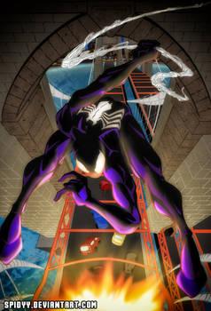 Spider-man in the bridge