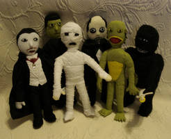 Custom plush - Mini Monsters by silentorchid