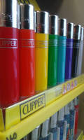 Colored clipper lighters