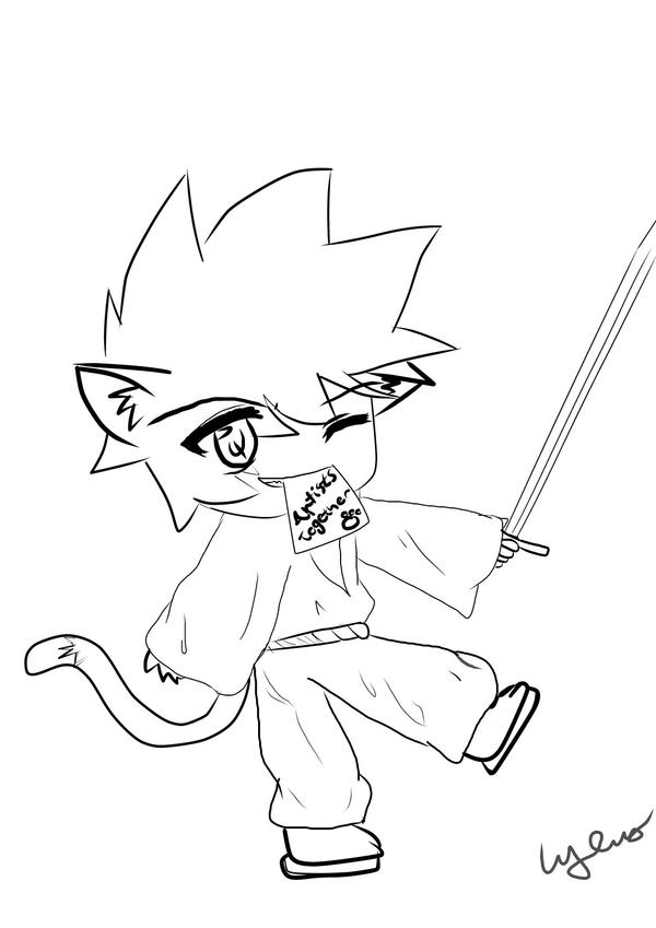 Anime Neko Coloring Pages Coloring Pages