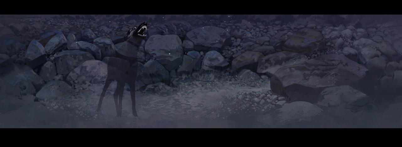 sunset-stone-dog by mir-ahmad