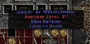 Diablo 2 Amulet of Worthlessne by Squeego