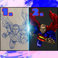 Step by step Superman!  by shunter071