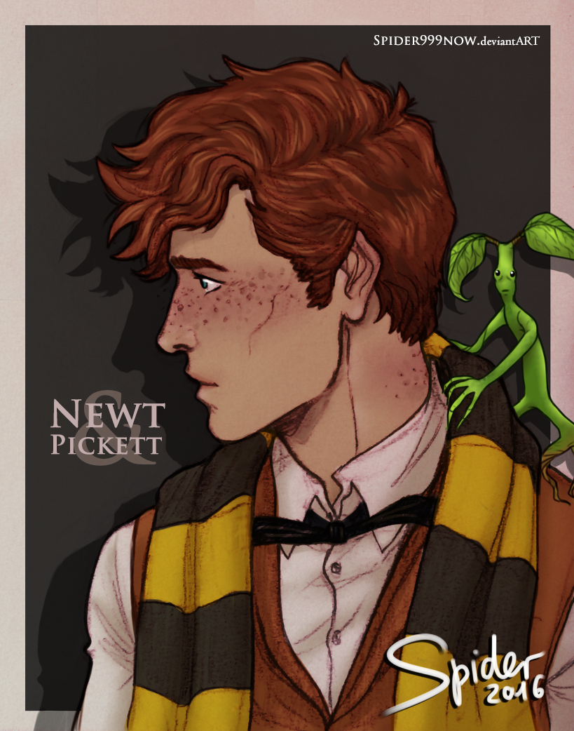 Newt and Pickett by spider999now