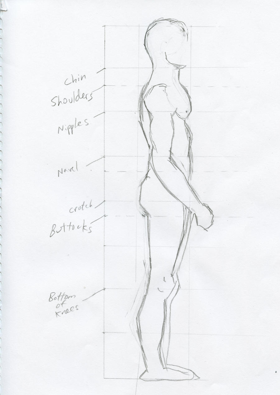 Studying Male Anatomy Side View By A Girl In A Sweater On Deviantart