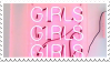 Girls x3 || Pink Aesthetic [1] || Stamp by Neriniex
