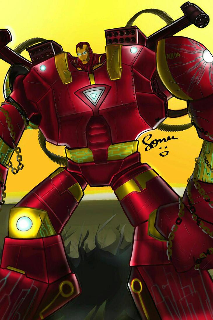 Iron Man Armour Design by sonu9