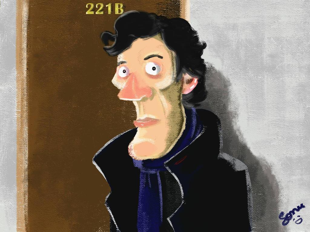 Quick Sherlock Caricature by sonu9