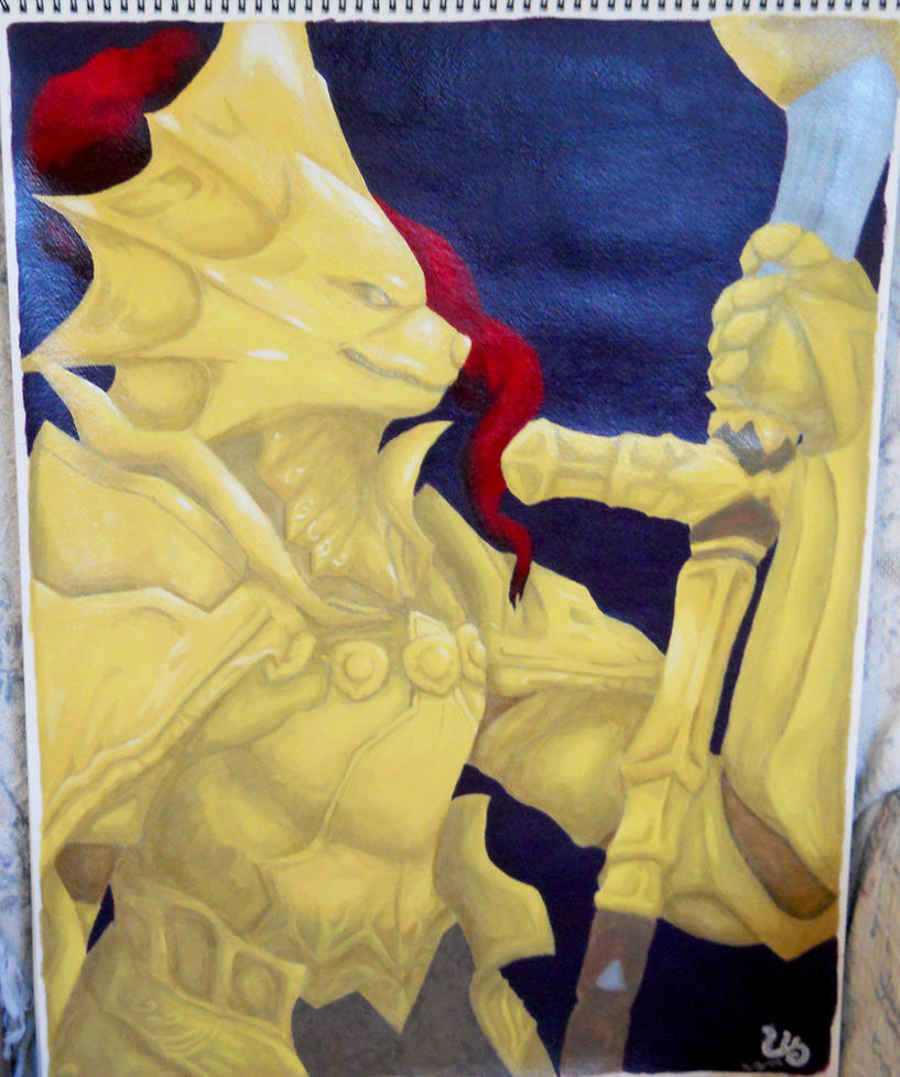 Dragonslayer Ornstein Painting by FrostWolf095