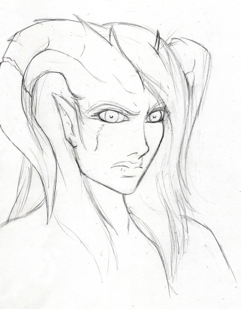 Tara Sketch (WIP) by FrostWolf095