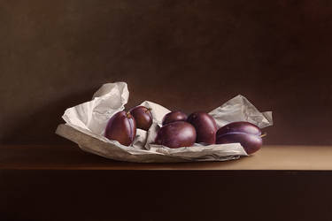 Plums on Wrapping Paper