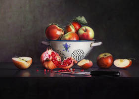 Still Life with Pomegranate by m-v-c