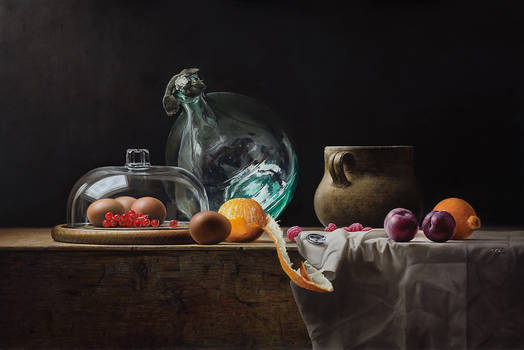 Still Life with Glass and some Dust