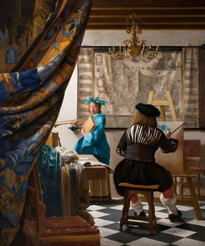 Copy Vermeer The Art of Painting