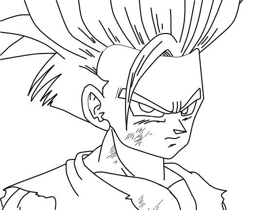 Dragon Ball Z Para Colorir Gohan Super Ssj 2: Gohan Ssj Para Colorear