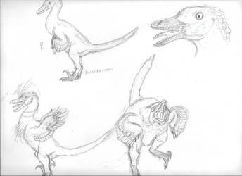 Duck raptor doodles