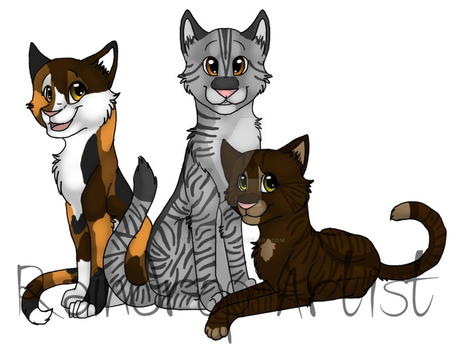 Blossomfall, Bumblestripe, and Briarlight by Raindrop ...