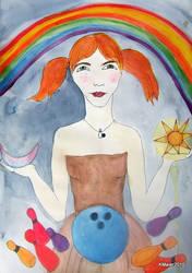 The bowling Goddess by diosaperdida