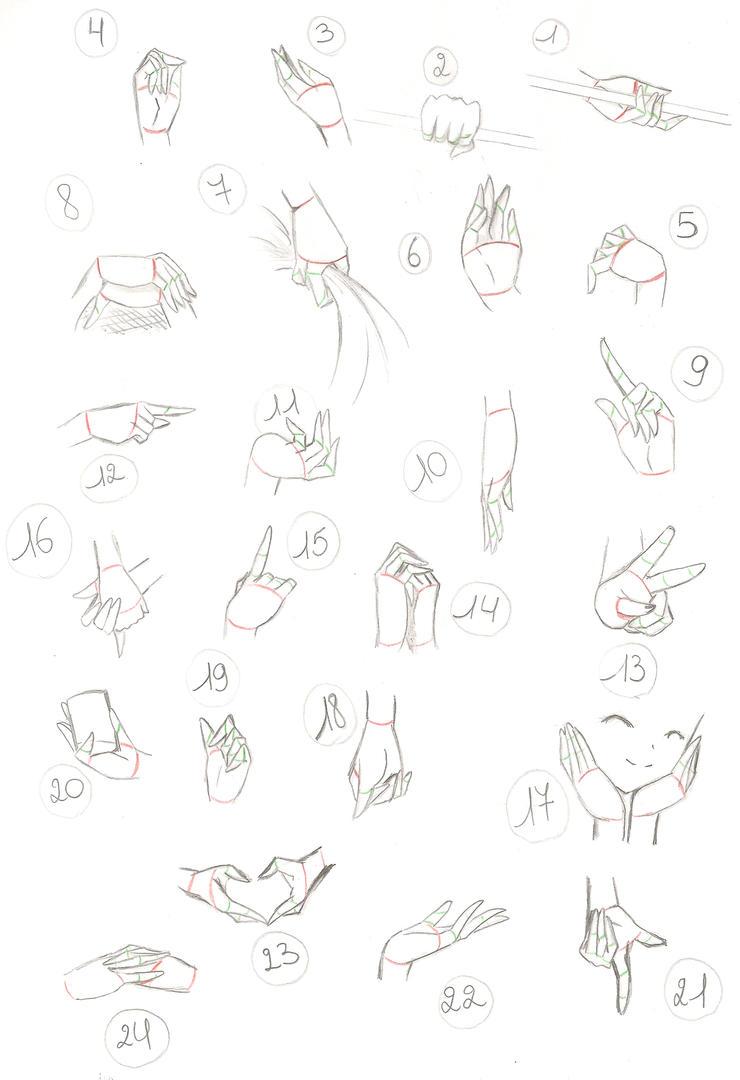 Hand study by AkumaToTenshi