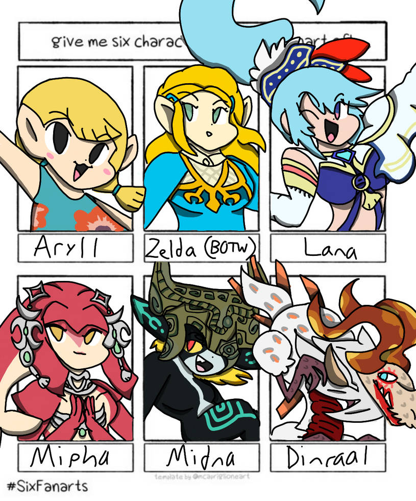 Six Fanarts-#4 (Legend of Zelda)
