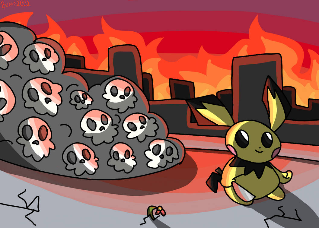 pichu with a knife