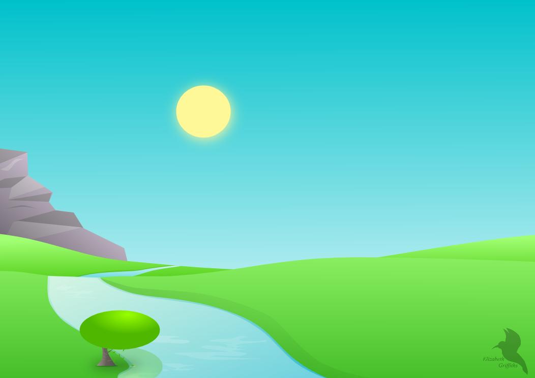 simple vector landscape by lizandre on deviantart