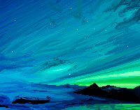 Northern lights by Lizandre