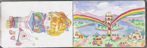 rainbow brite watercolors