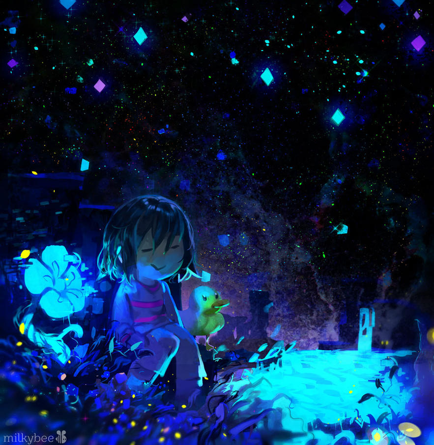 undertale frisk in waterfall - photo #3