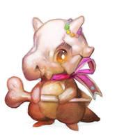 Pokemon 20 years sketch - Cubone by milkybee
