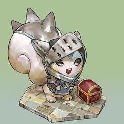 Knight Pachirisu by milkybee