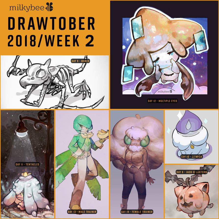 Pokemon Drawtober2 by milkybee